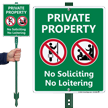 Private Property No Soliciting Lawnboss Sign