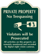 Private Property, No Trespassing Signature Sign