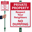 Respect Your Neighbors No Dumping Lawnboss Sign Kit