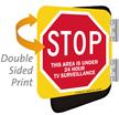Stop Area Under 24 Hour Surveillance Sign