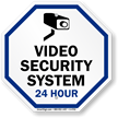 Video Security with graphic System sign