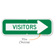 Visitors With Right Arrow Sign