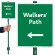 Walker's Path with Left Arrow LawnBoss Sign