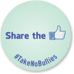 Share The With Thumps Up Symbol Label