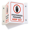 Unauthorized Personnel Keep Out (with graphic) Sign