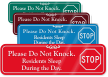 Do Not Knock Residents Sleep During Day Sign