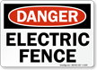 Danger Electric Fence Sign