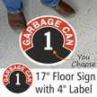 Garbage Can 1 Floor Sign & Label Kit