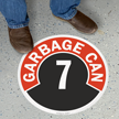 Garbage Can - 7 Floor Sign