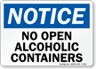No Open Alcoholic Containers