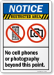 No Cell Phones Or Photography Sign