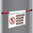 No Soliciting Religion Door Barricade Sign
