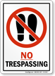 No Trespassing Sign With No Shoes Graphic