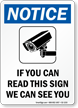 Notice Video Surveillance OSHA Sign