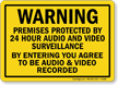 Premises Protected By Audio And Video Surveillance Sign