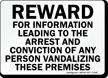 Reward For Information Leading To Arrest Sign