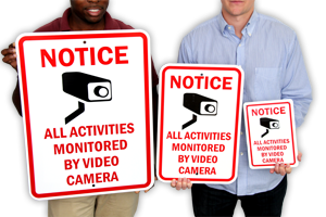 Best Sizes for a Video Camera Sign