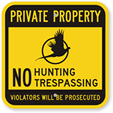 No Hunting Signs