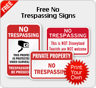 Free No Trespassing Signs