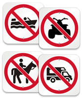 prohibition symbol signs