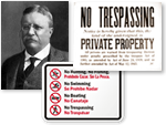 No Trespassing Signs: Then and Now