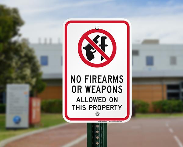 Wisonsin concealed gun sign for entrance