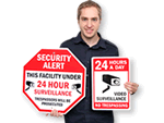 24 Hour Surveillance Signs