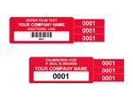 4-in-1 Security Label - Add barcodes or numbering