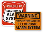 Security Alarm Signs