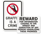 Anti-Graffiti Signs