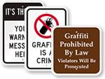 Anti-Graffiti Signs