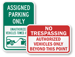 Authorized Vehicles Only Signs