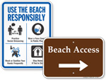 Beach Property Signs