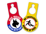 Beware of Dog Door Hangers
