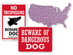 Beware of Dog Signs by State