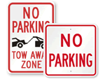 Big No Parking Signs