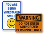 Big Security Signs