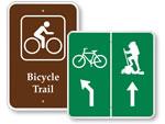 Bike Trail Signs