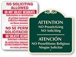 Bilingual No Soliciting Signs