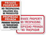 Bilingual No Trespassing Signs