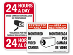 Bilingual Surveillance Signs