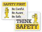 Cartoon Safety Signs
