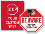 CCTV monitored Stop Signs