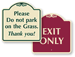 Designer Clubhouse Signs