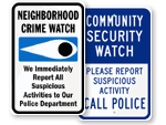 Community Crime Watch Signs