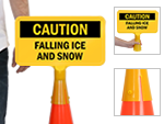 Cone Boss Safety Signs for Traffic Cones
