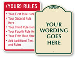 Create Your Own Rules Signs