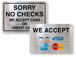 Credit Card Signs
