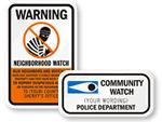 Custom Crime Watch Signs