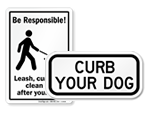 Curb Your Dog Signs